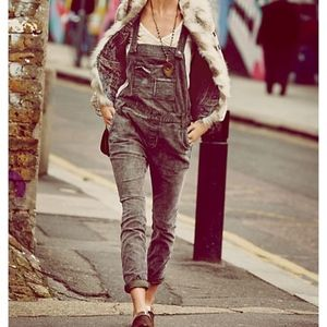 Free People Through the Woods Corduroy Overalls